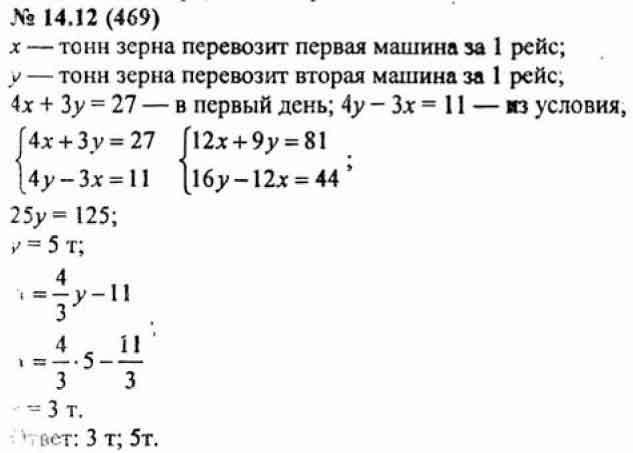 Гдз По Алгебре 7 Класс Мордкович 12 14