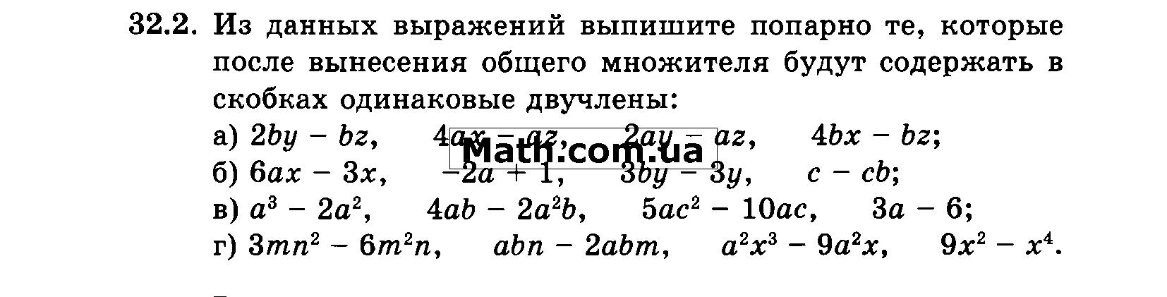 По алгебре 32.2 гдз